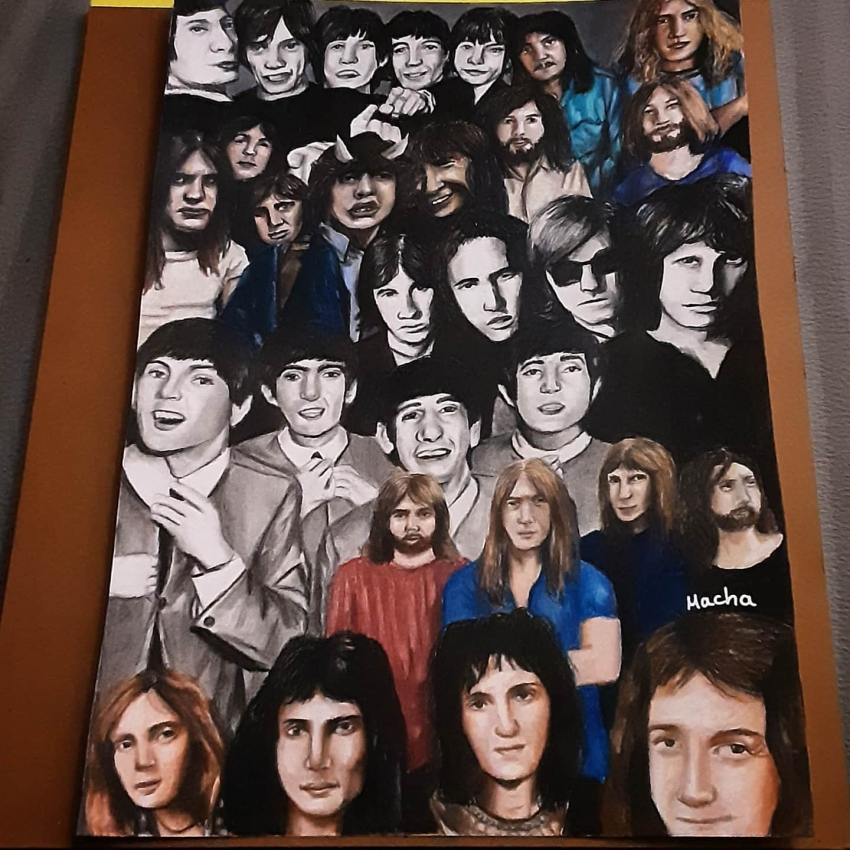 The Rolling Stones, AC/DC, The Doors, Pink Floyd, Led Zeppelin, The Beatles, Queen by Macha